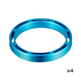 """Supacaz Hollow SupaSpacer Set 4 Pieces 5mm 1 1/8"""", maui blue"""